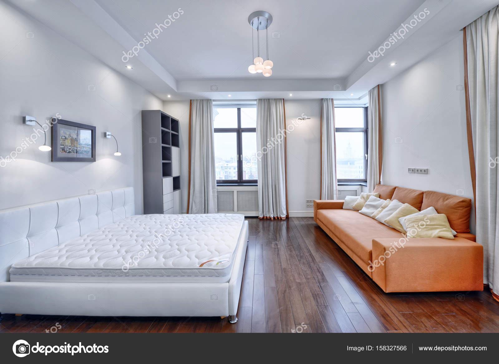 Raumgestaltung Schlafzimmer — Stockfoto © ovchinnikovfoto #158327566