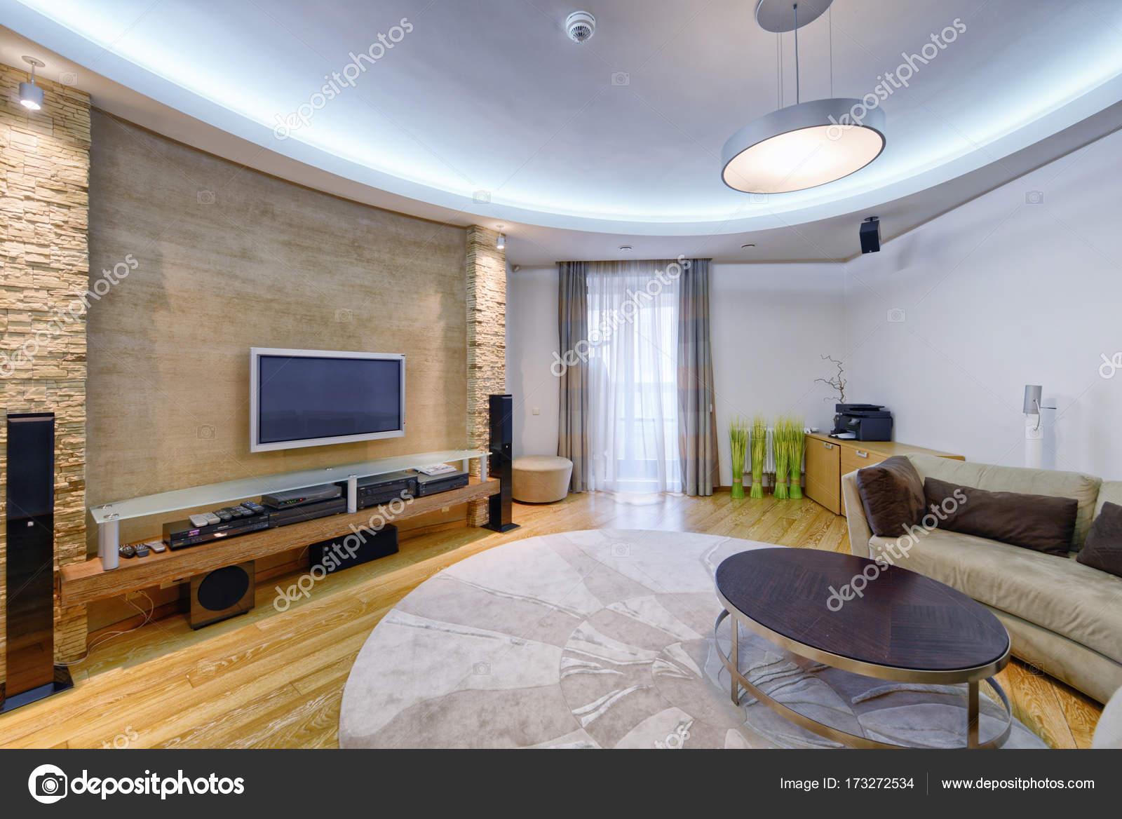 Modern Interieur Woonkamer : Woonkamer interieur in moderne huis u stockfoto ovchinnikovfoto
