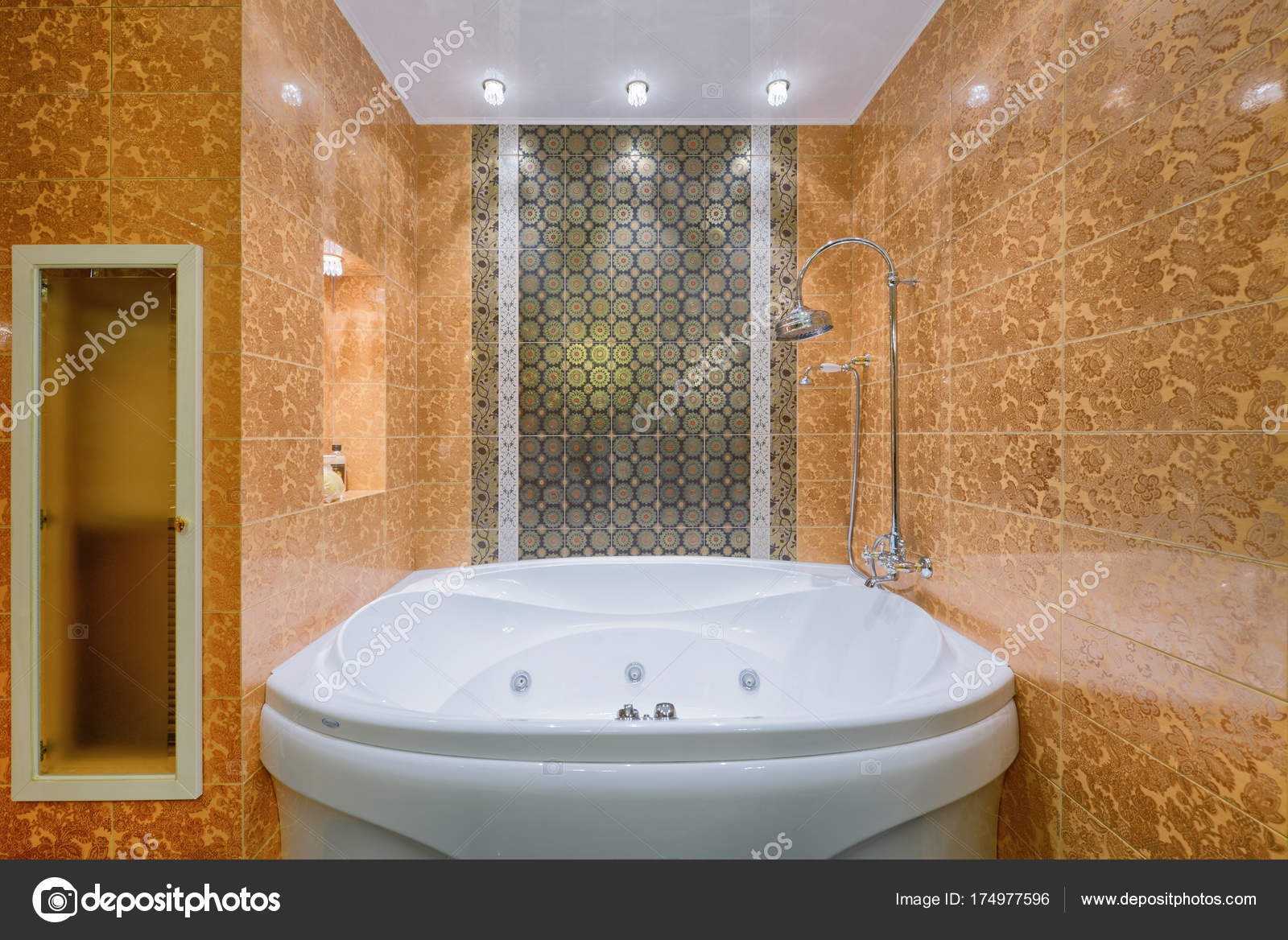 Russie Moscou Moderne Salle Bain Intérieur Design Immobilier ...