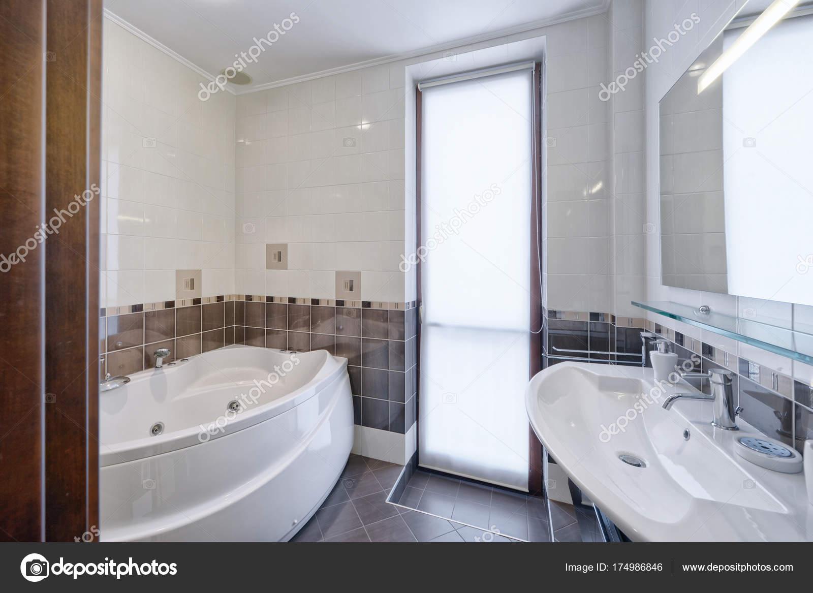 Moderne Interieur Badkamer Ontwerpen Stedelijk Vastgoed — Stockfoto ...