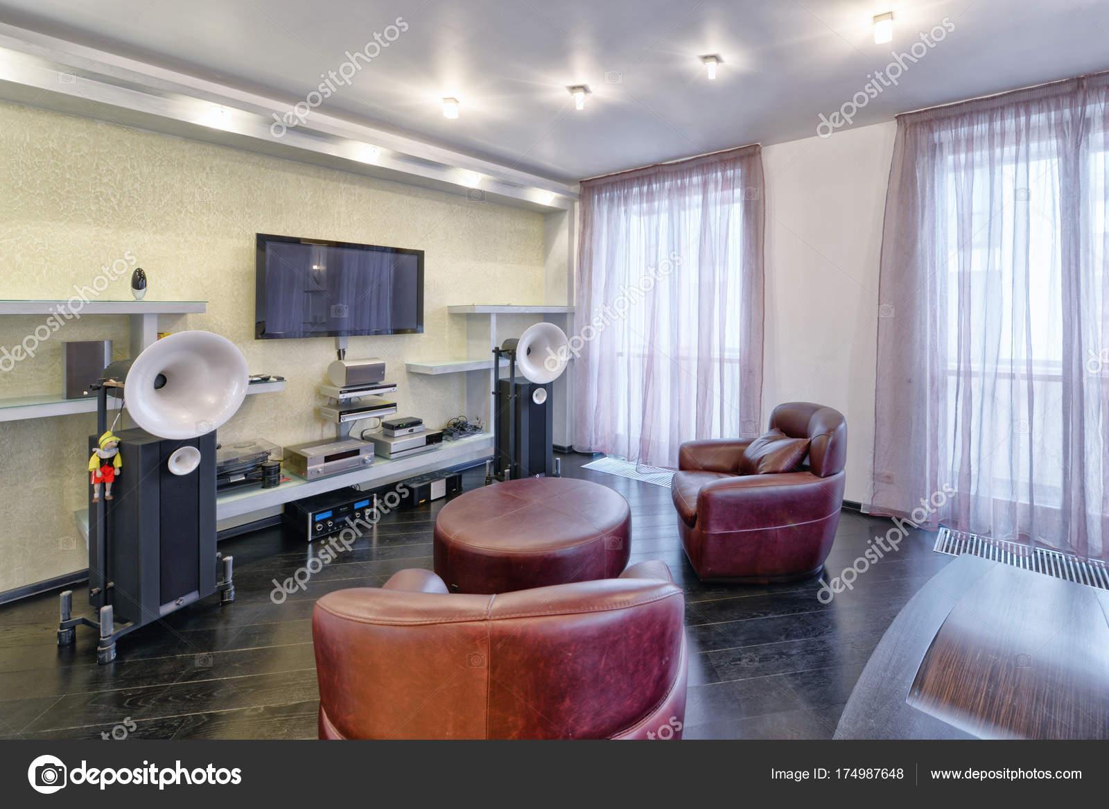 Interior Home Theater Modern Luxury Home — Stock Photo ...