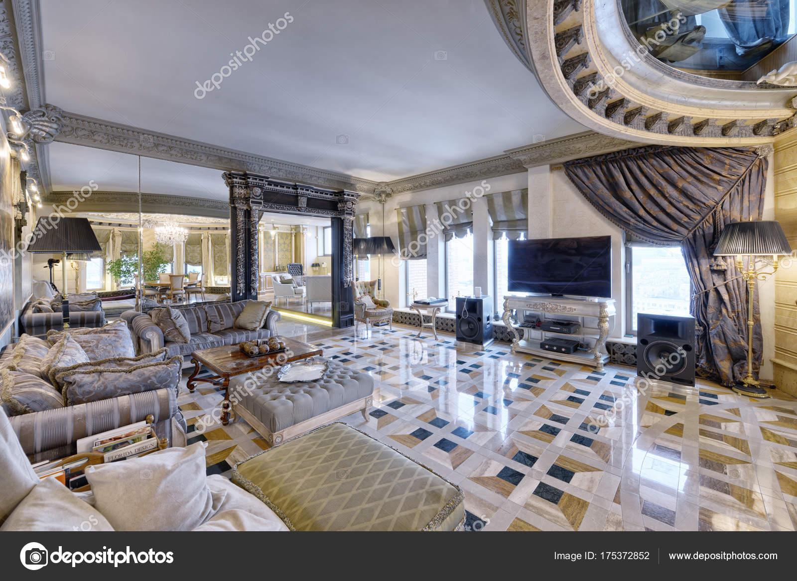 Rusia regi n mosc dise o interiores sala estar casa nueva Diseno de interiores sala de estar