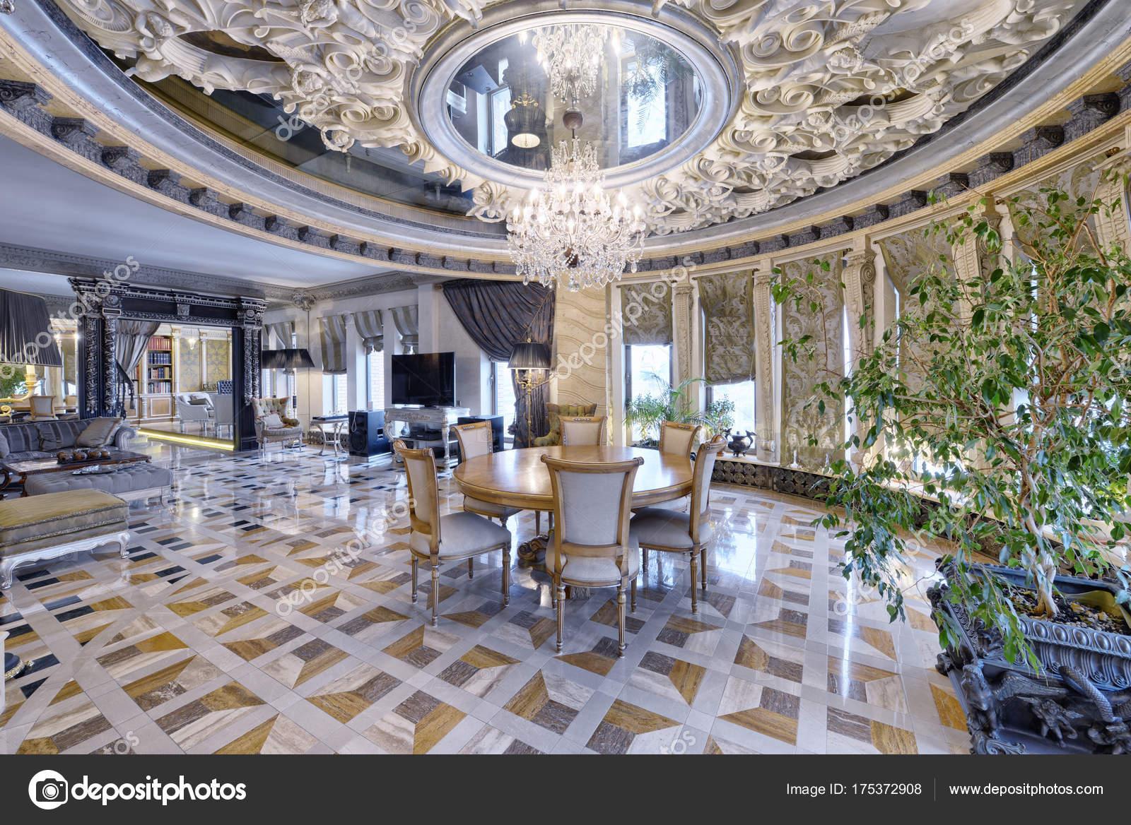 Russie Moscow Region Salon Design Intérieur Dans Nouvelle Maison ...