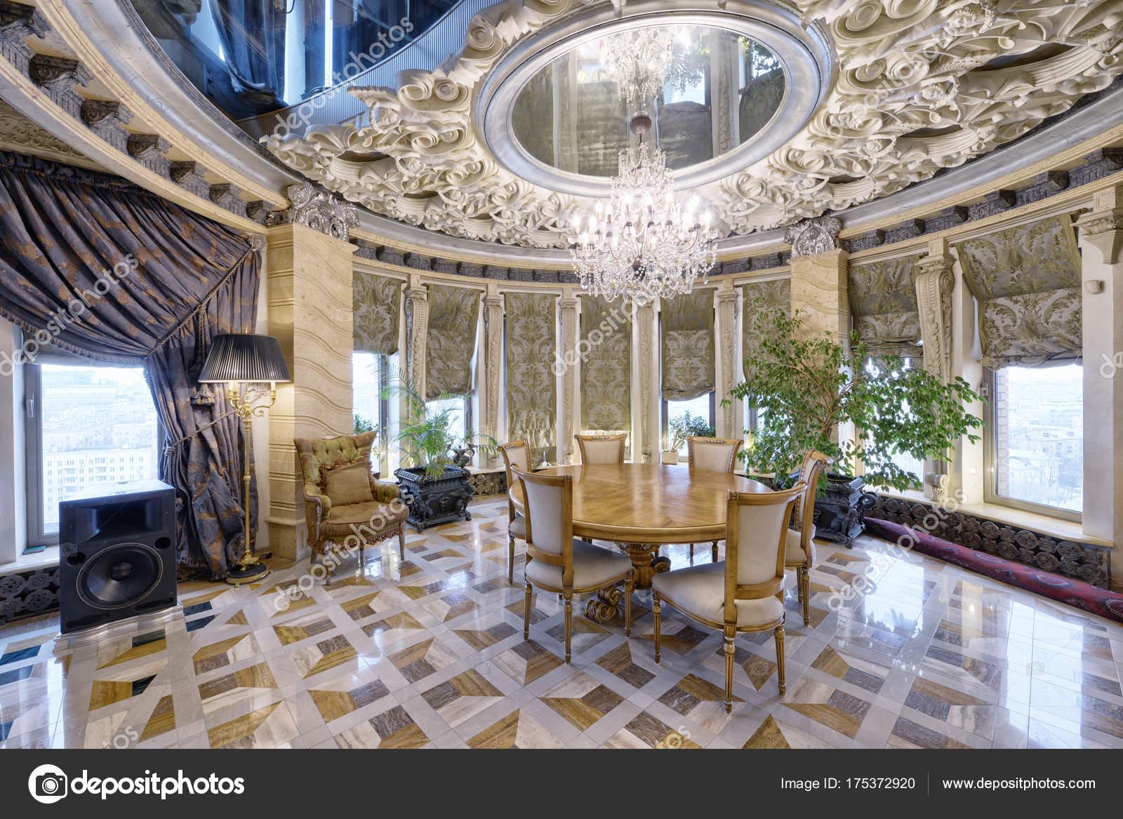 Superior Russland Moscow Region Wohnzimmer Interior Design Neuen Luxus Haus U2014  Stockfoto