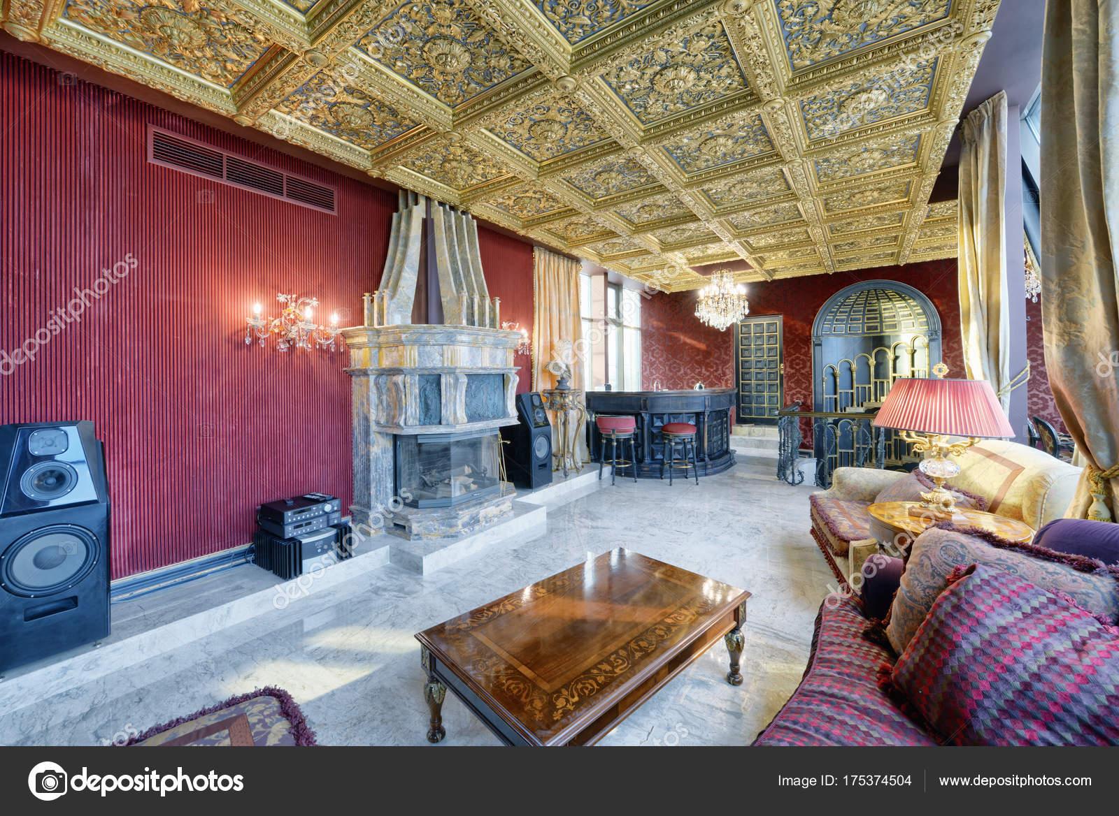 Russland Moscow Region Wohnzimmer Interior Design Neuen Luxus Haus ...