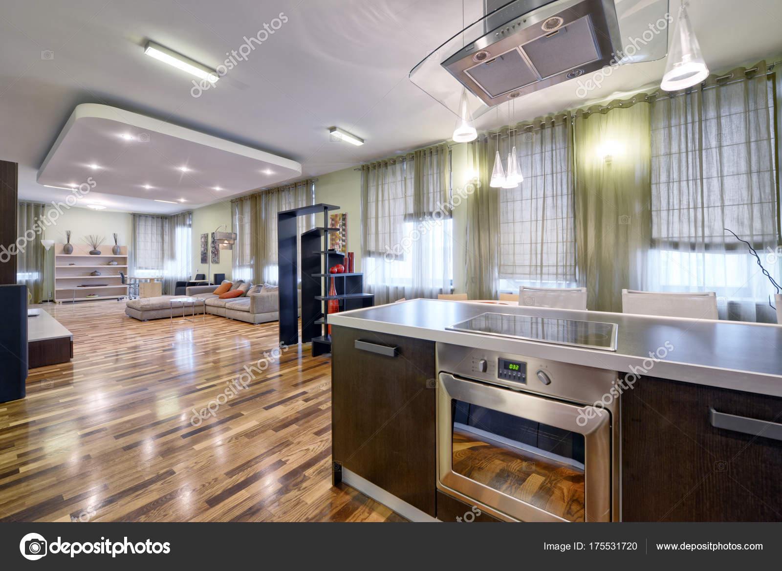 Interieur Maison Modern : Intérieur pièce cuisine séjour dans une maison moderne
