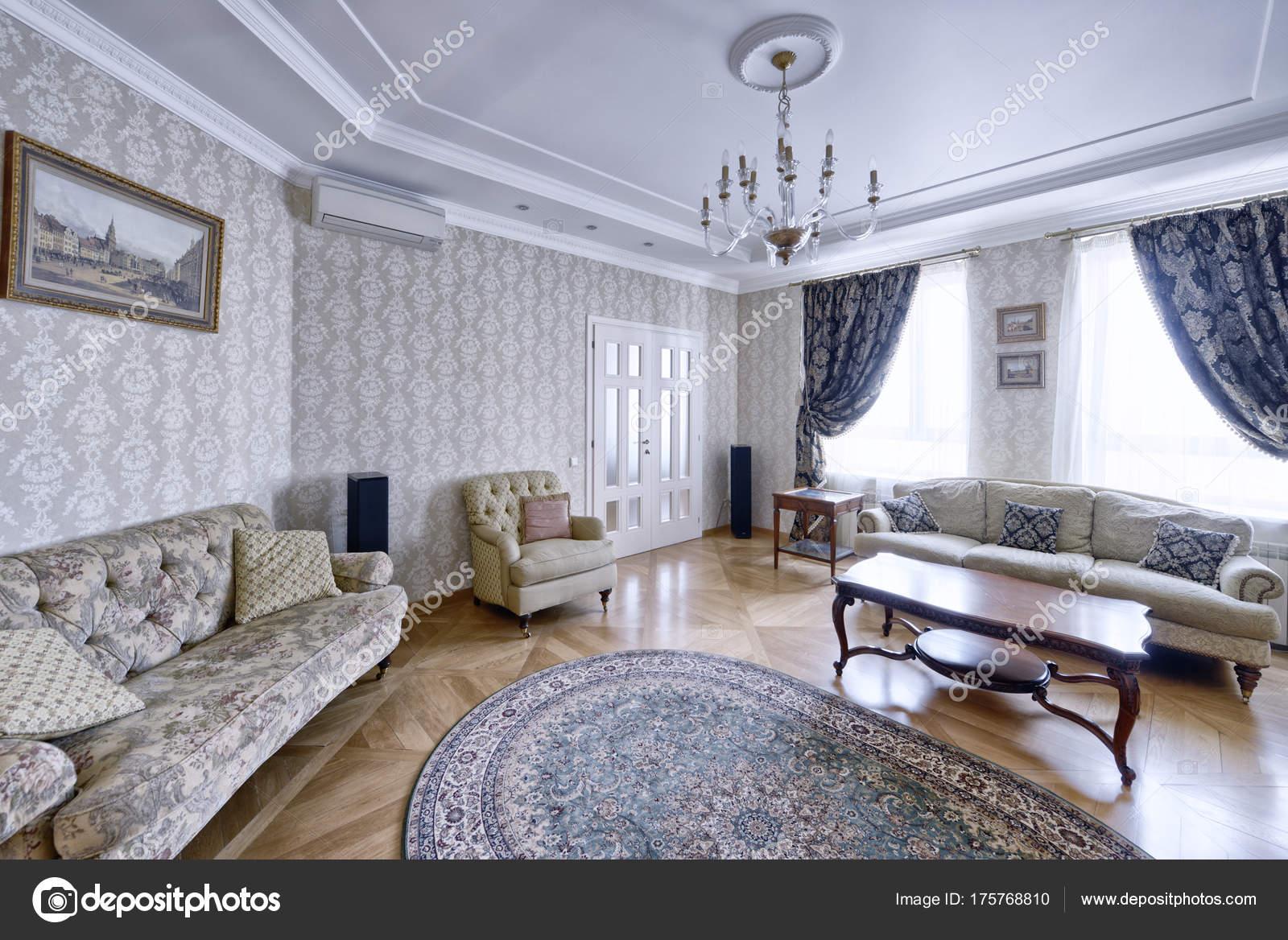 Russland Moskau Moderne Innenarchitektur Wohnzimmer Städtische Immobilien U2014  Stockfoto
