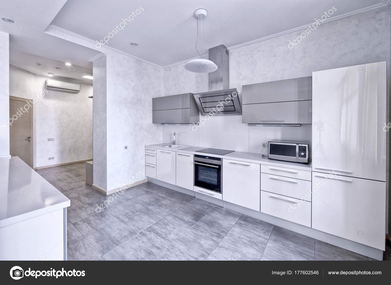 Keuken Design Moderne : Interieur design moderne keuken het nieuwe huis u stockfoto