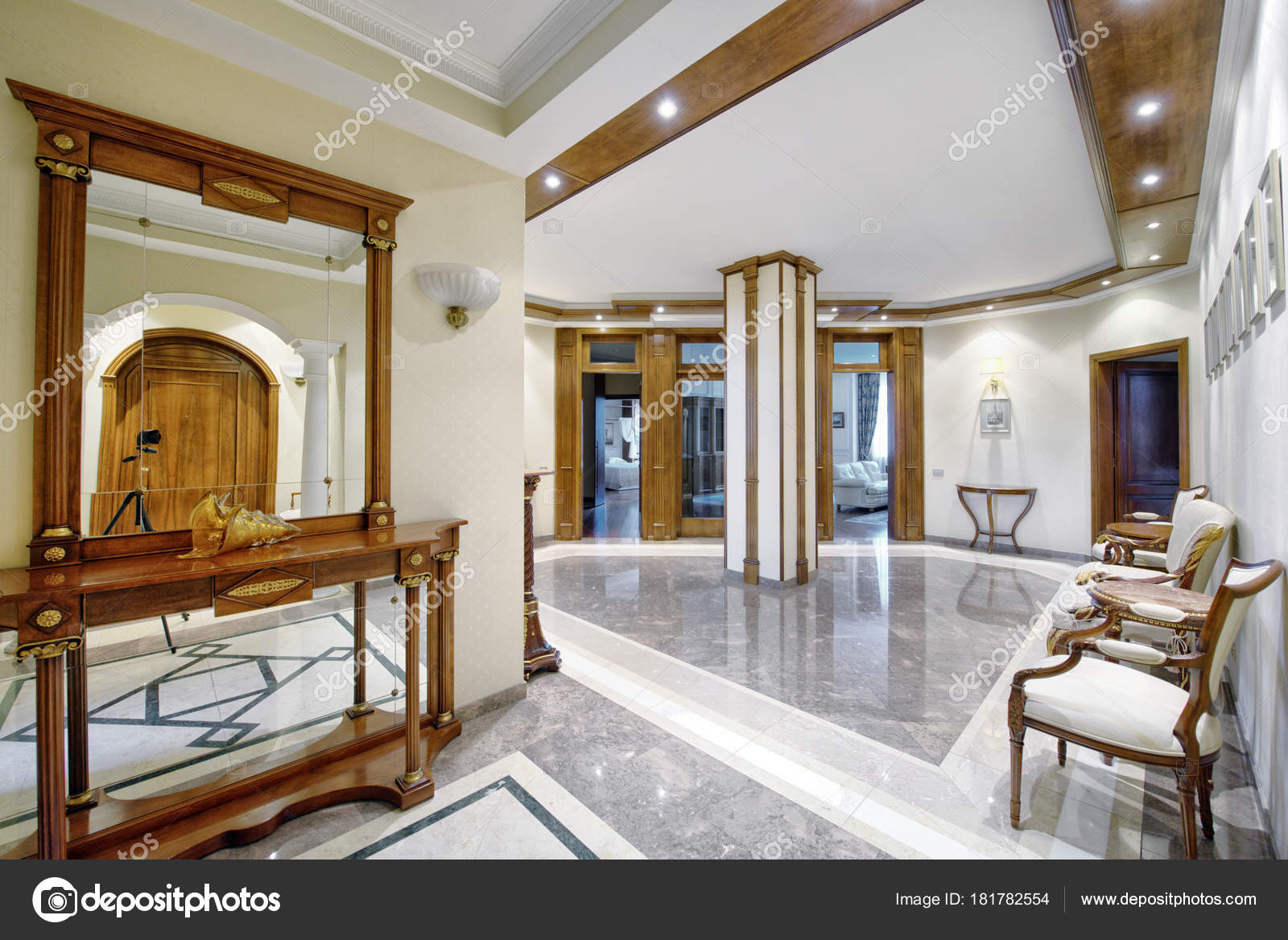 Interior design of the hall in the apartment and house