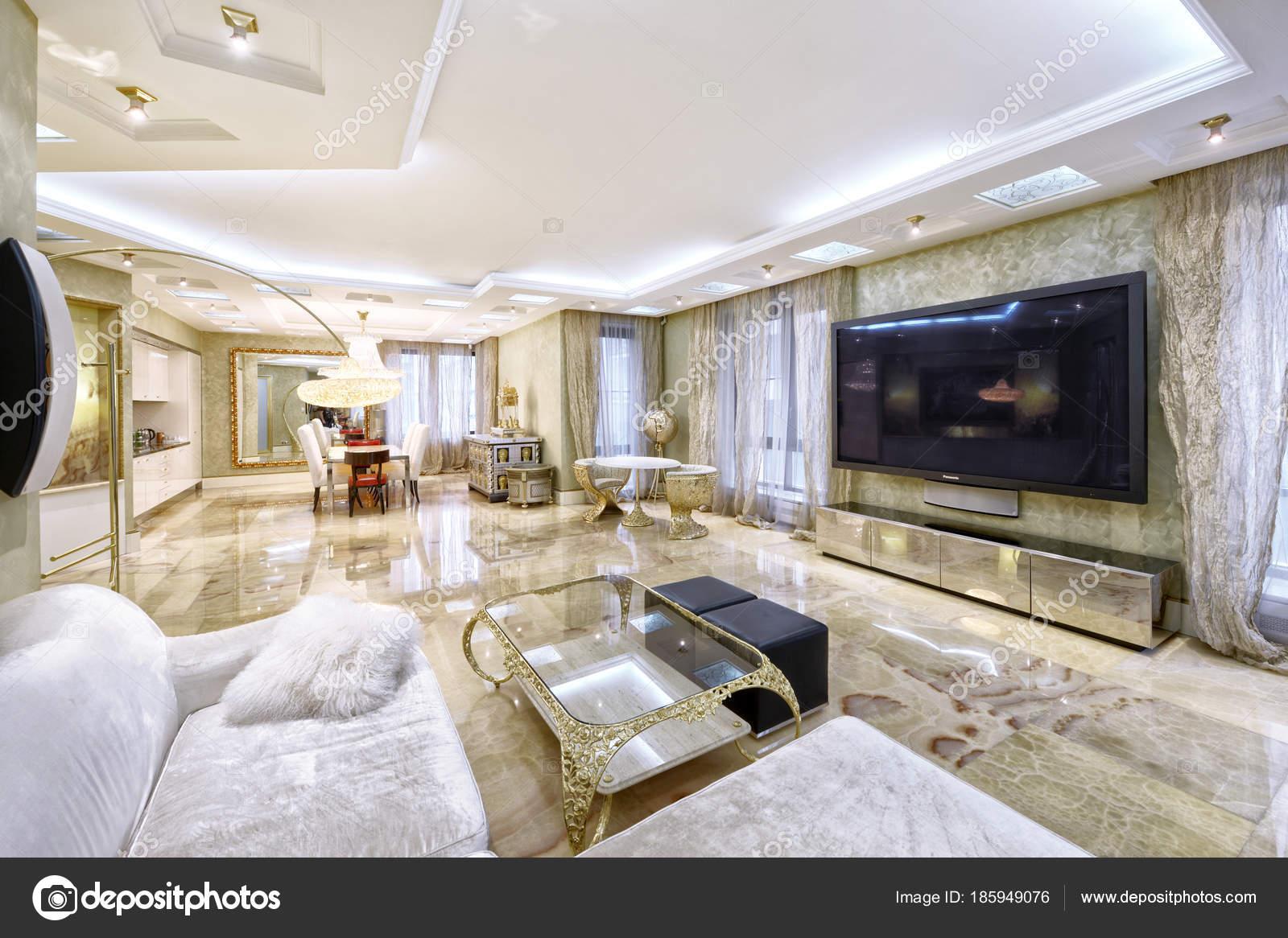Innenarchitektur Wohnzimmer Neue Luxuswohnung — Stockfoto ...