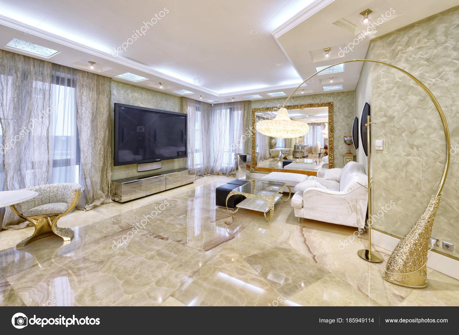 Salon Design Interieur Dans Nouvel Appartement Luxe