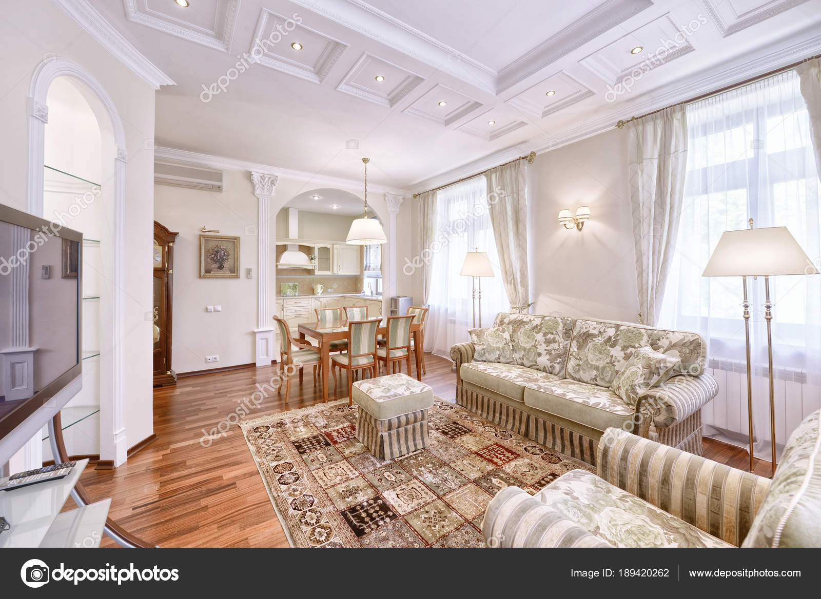Interni del salotto stile classico una casa moderna foto stock ovchinnikovfoto 189420262 - Interni casa moderna ...