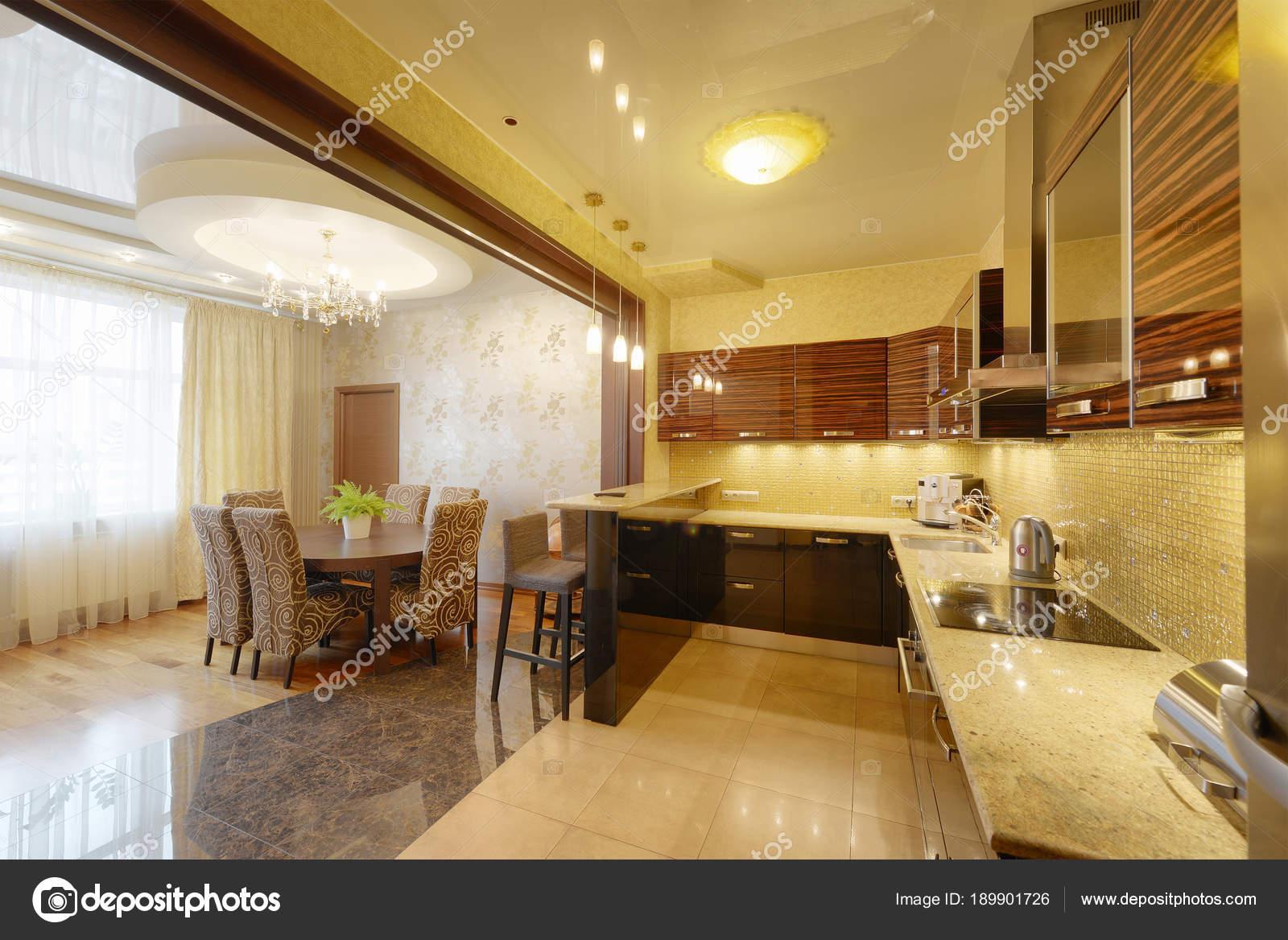 Cocina Moderna Diseño Interiores Casa Nueva — Fotos de Stock ...