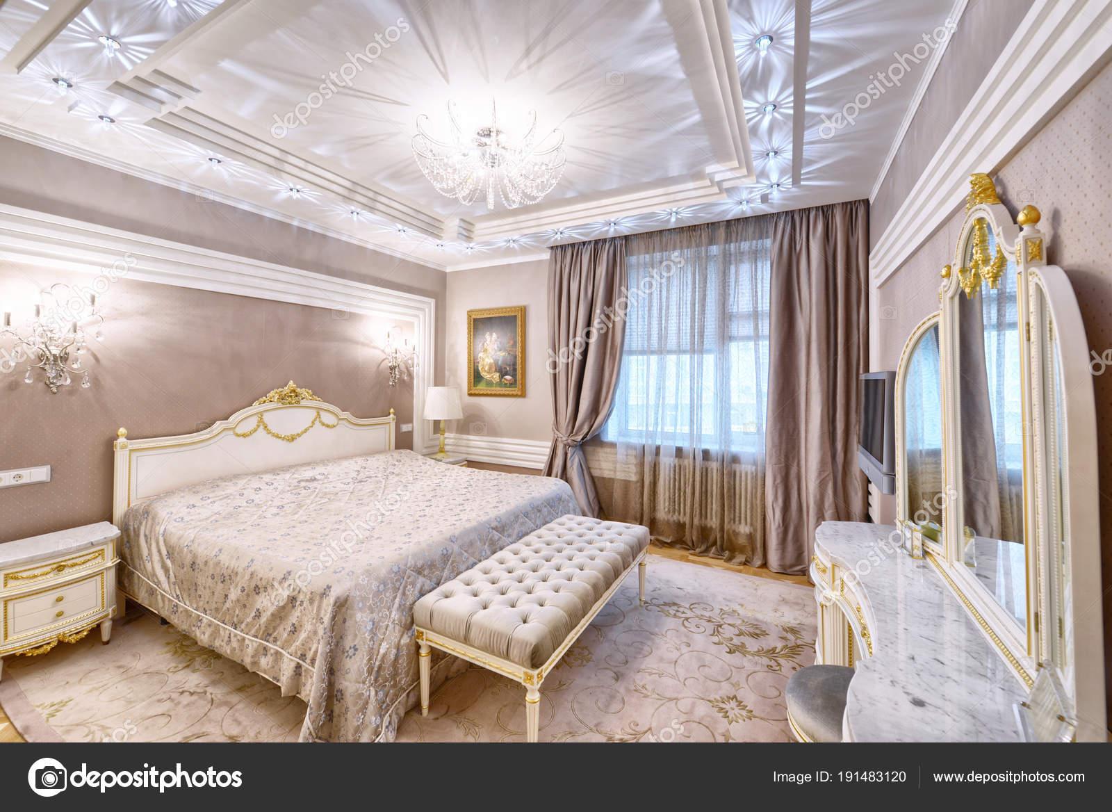 Interior Design Beautiful Bedroom Luxury Home — Stockfoto ...