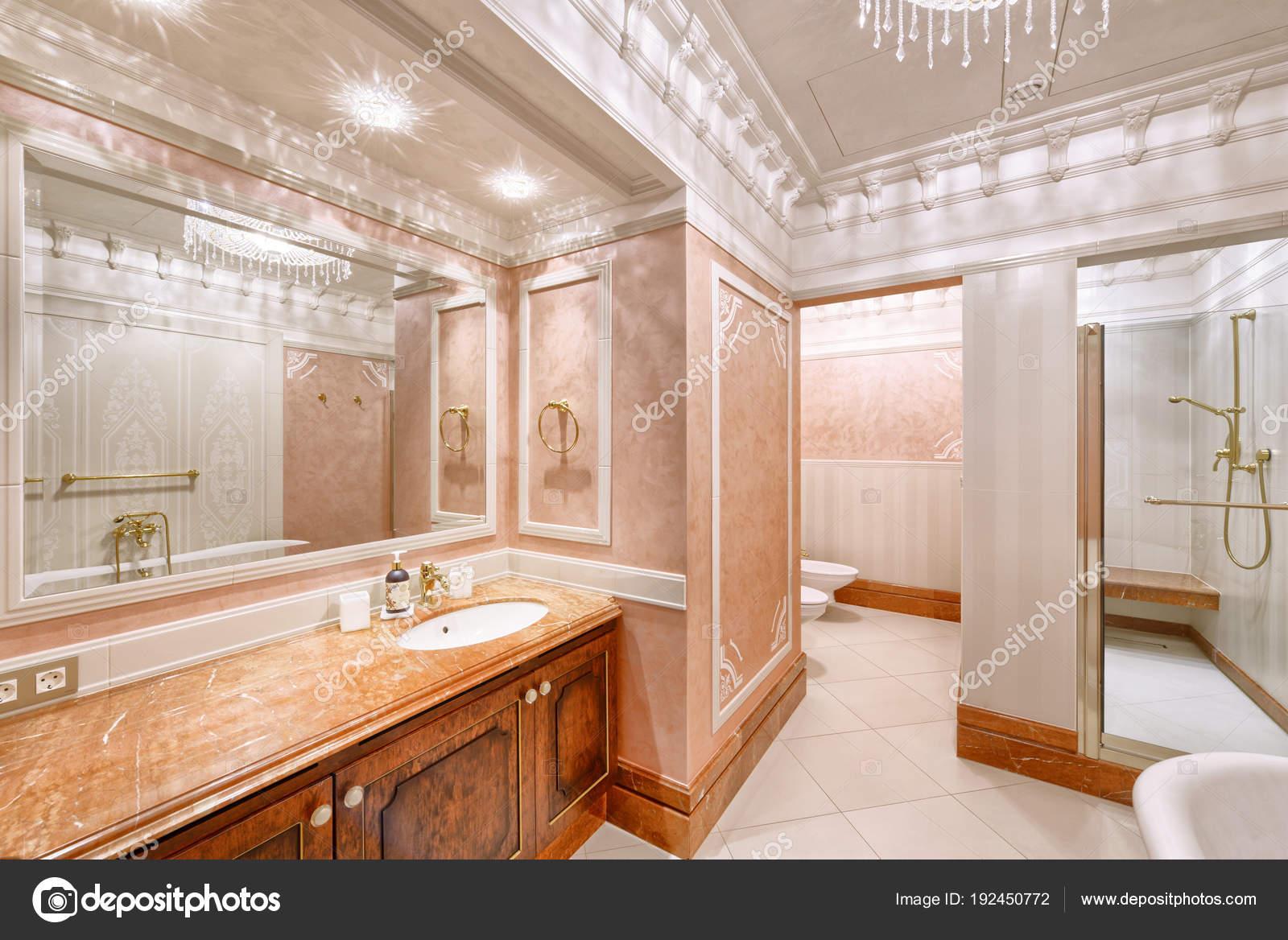 Diseño Interiores Casa Lujo Cuarto Baño Elegante — Foto de stock ...
