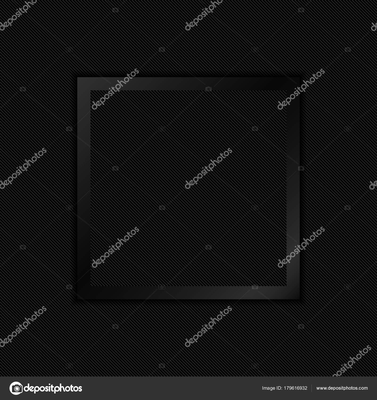 Papel negro corte marco sobre un fondo de textura de carbono. Vector ...