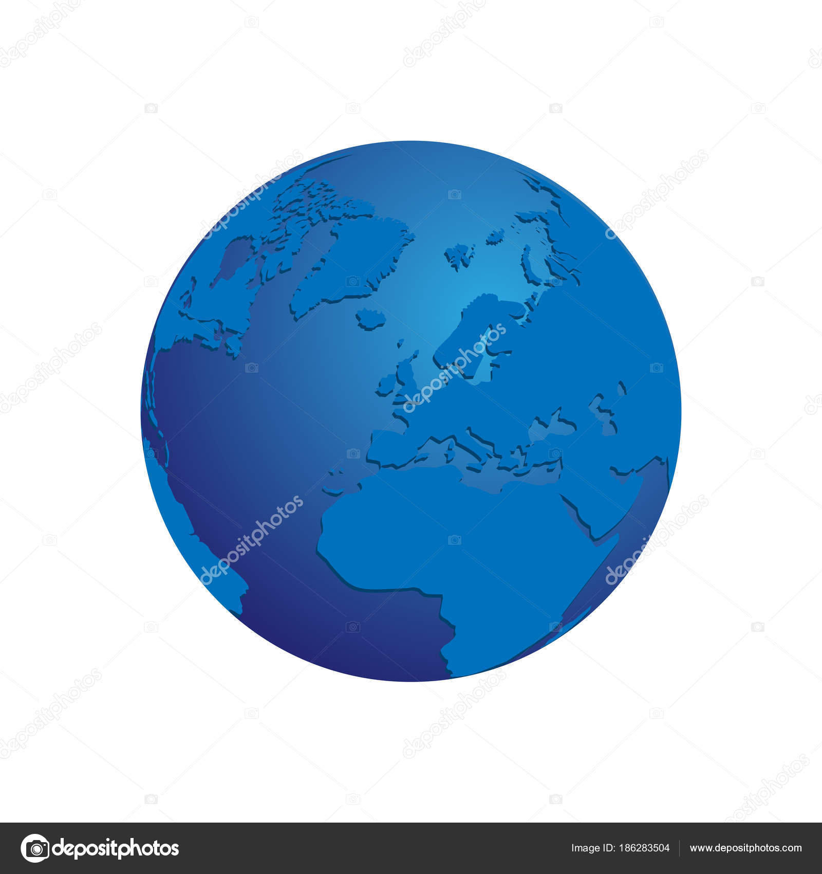 Realistic blue 3d world map globe isolated background vector eps 10 realistic blue 3d world map globe isolated background vector eps 10 stock vector gumiabroncs Choice Image