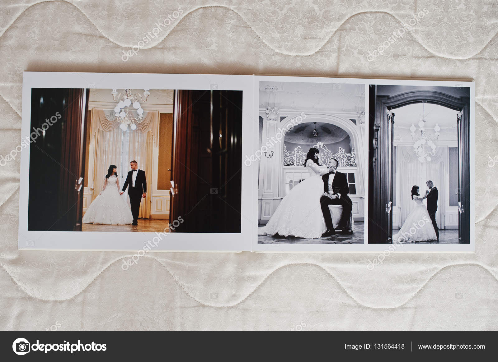 Wedding photo album 30x40. Dual pages of photo book elegance wed ...