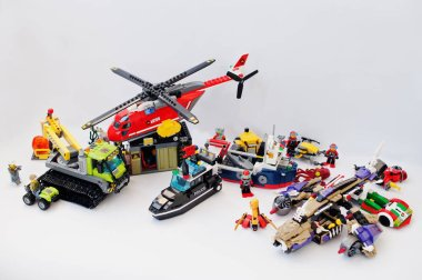 Hai, Ukraine - March 1, 2017: Different toys from Lego blocks. L