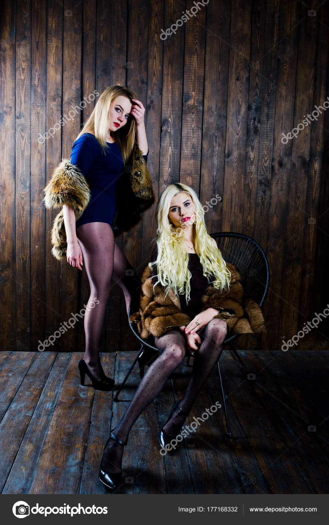 Sexy blonde girls body interracial