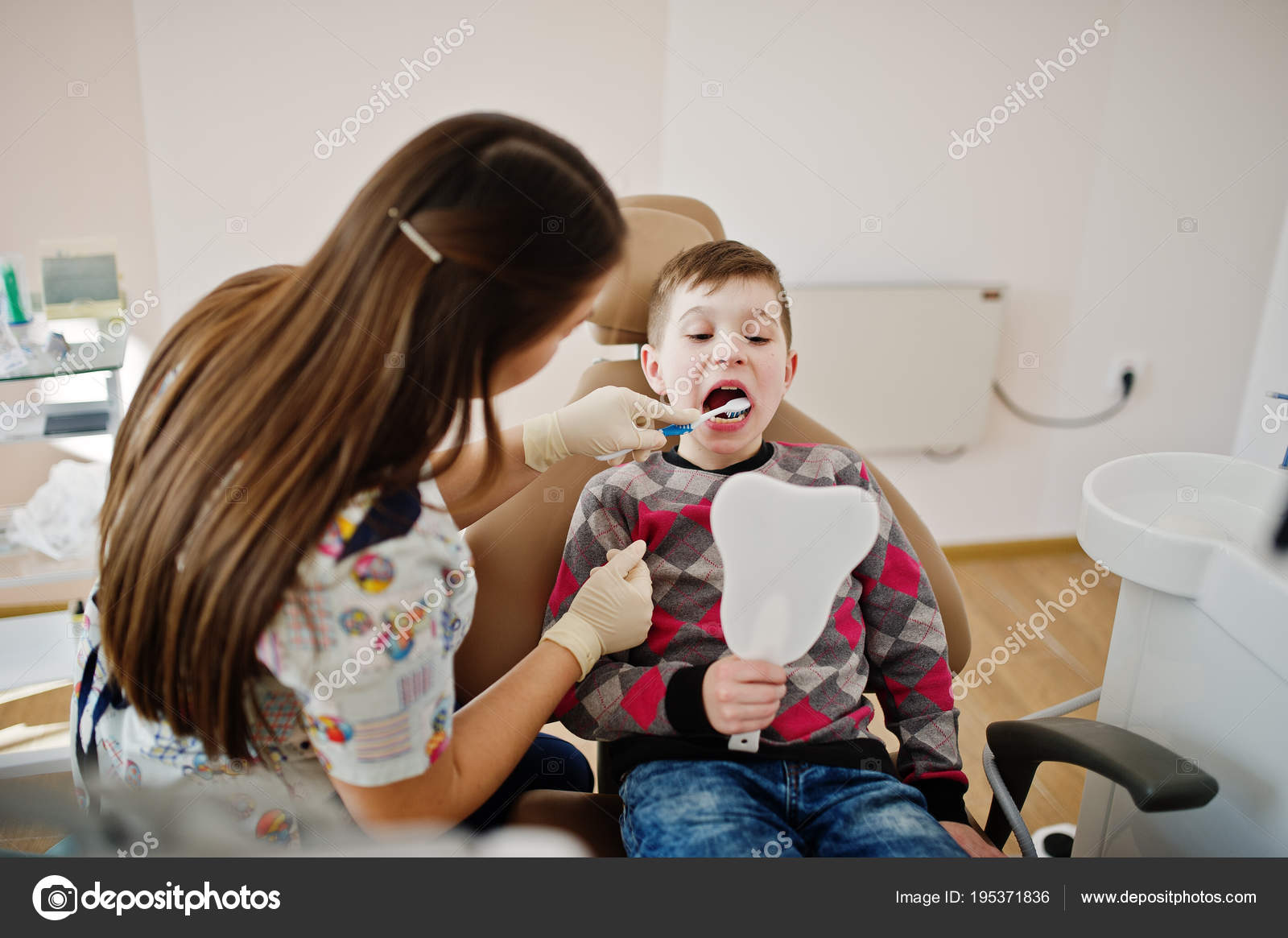 Awesome Little Boy At Dentist Chair Children Dental Stock Photo Andrewgaddart Wooden Chair Designs For Living Room Andrewgaddartcom