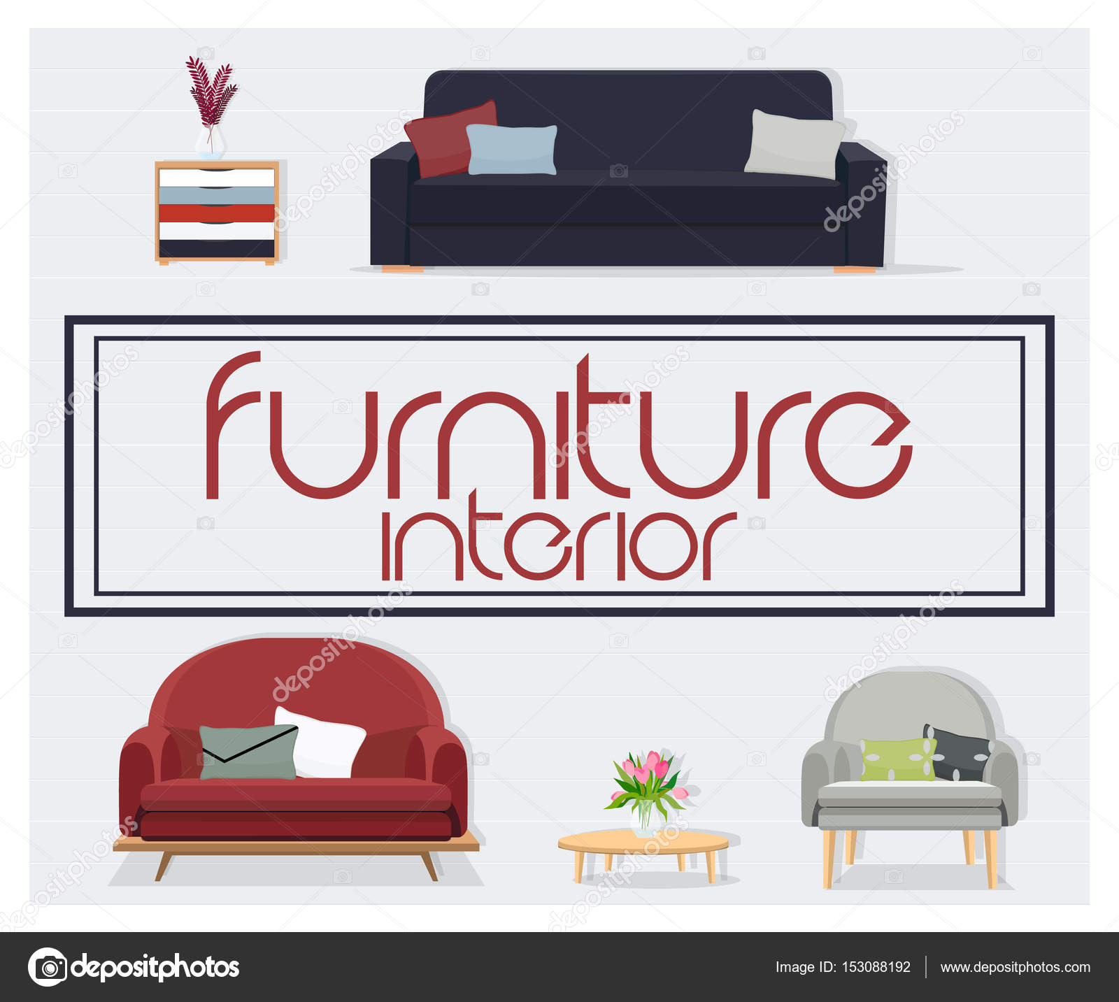 Interior Conjuntos Sofá Accesorios Para Hogar Muebles Diseño Sofás ...