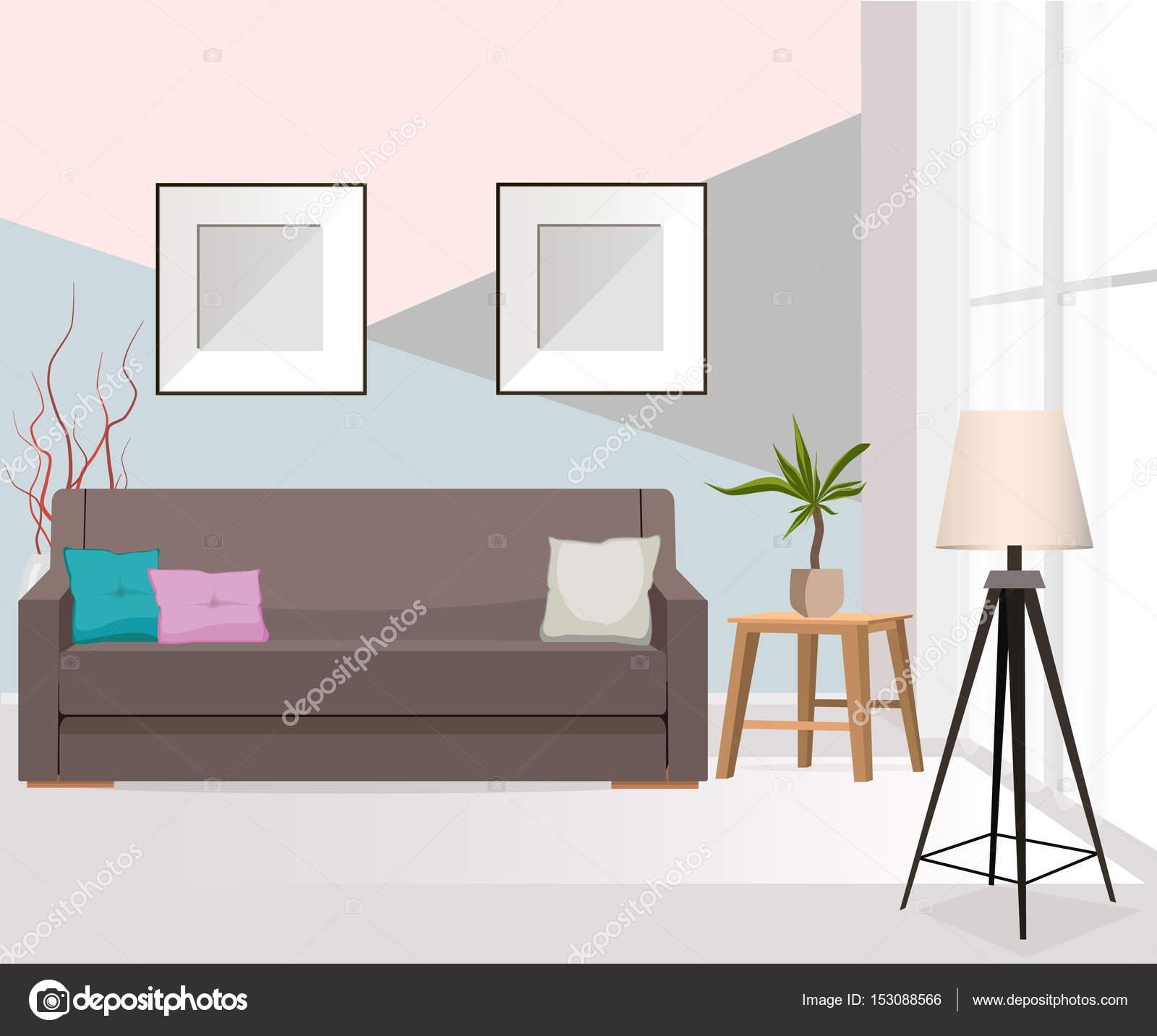 M Veis Interior Sala Estar Com Sof Mesa Abajur Fotos Janela  -> Abajur Pra Sala De Estar