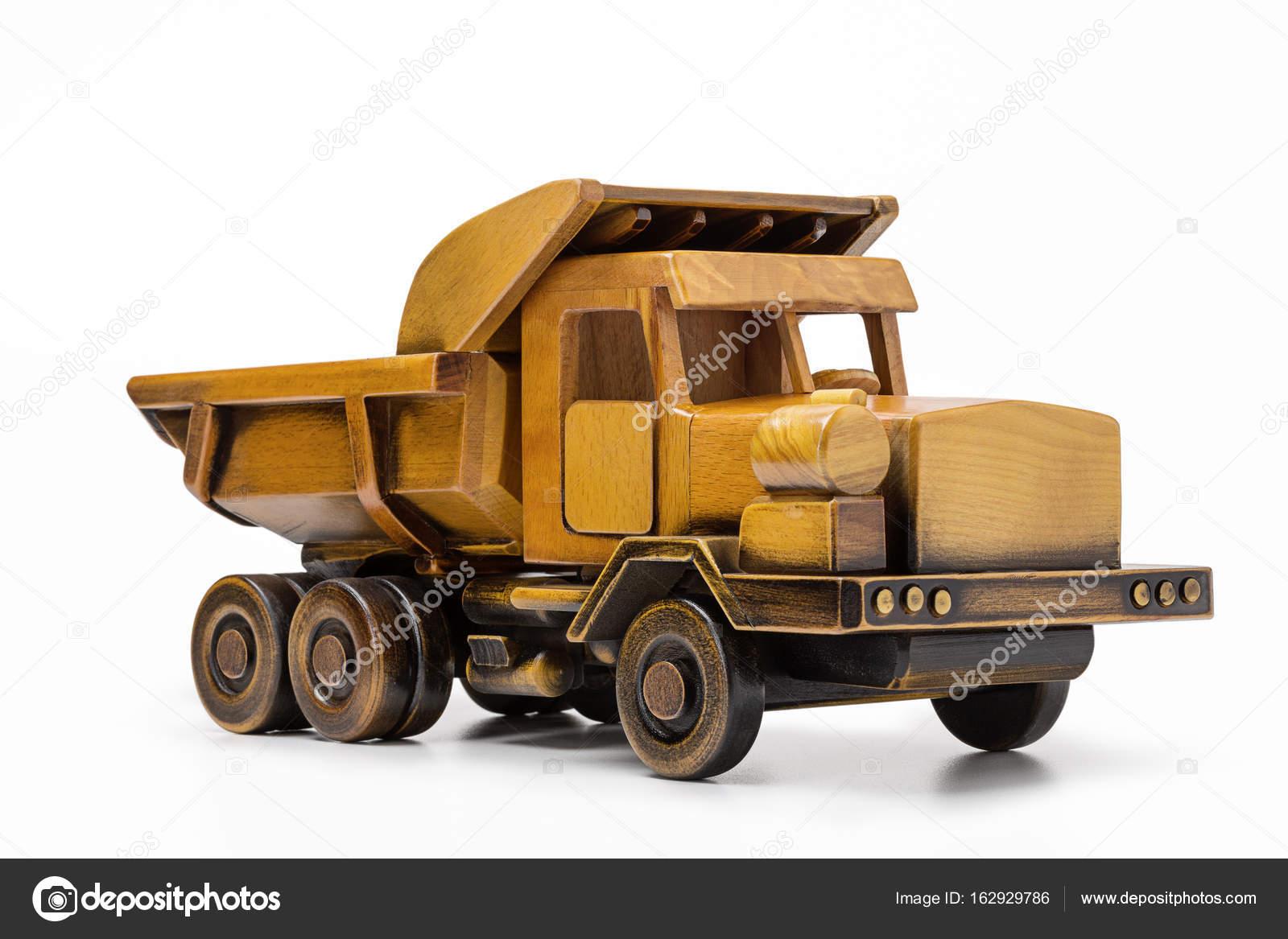 Camiones Para Madera Coche De Juguete Camion Amarillo Hecho De