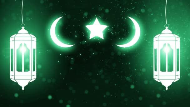 abstrakte Ramadan gesegnet Backgorund 4k (Kerze mubarek)