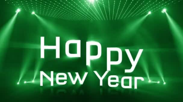 boldog új évet 2018 zöld világítás