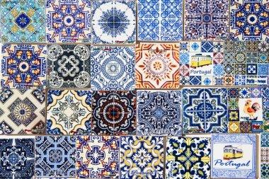 Souvenirs for tourists reproducing typical portuguese tiles