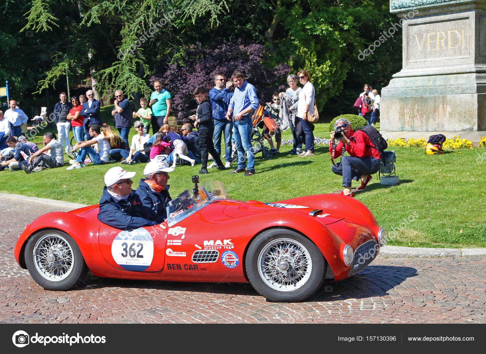 Old Lancia of 1954 during Mille Miglia regularity race – Stock ...
