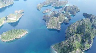 Aerial View of Amazing Limestone Islands in Raja Ampat