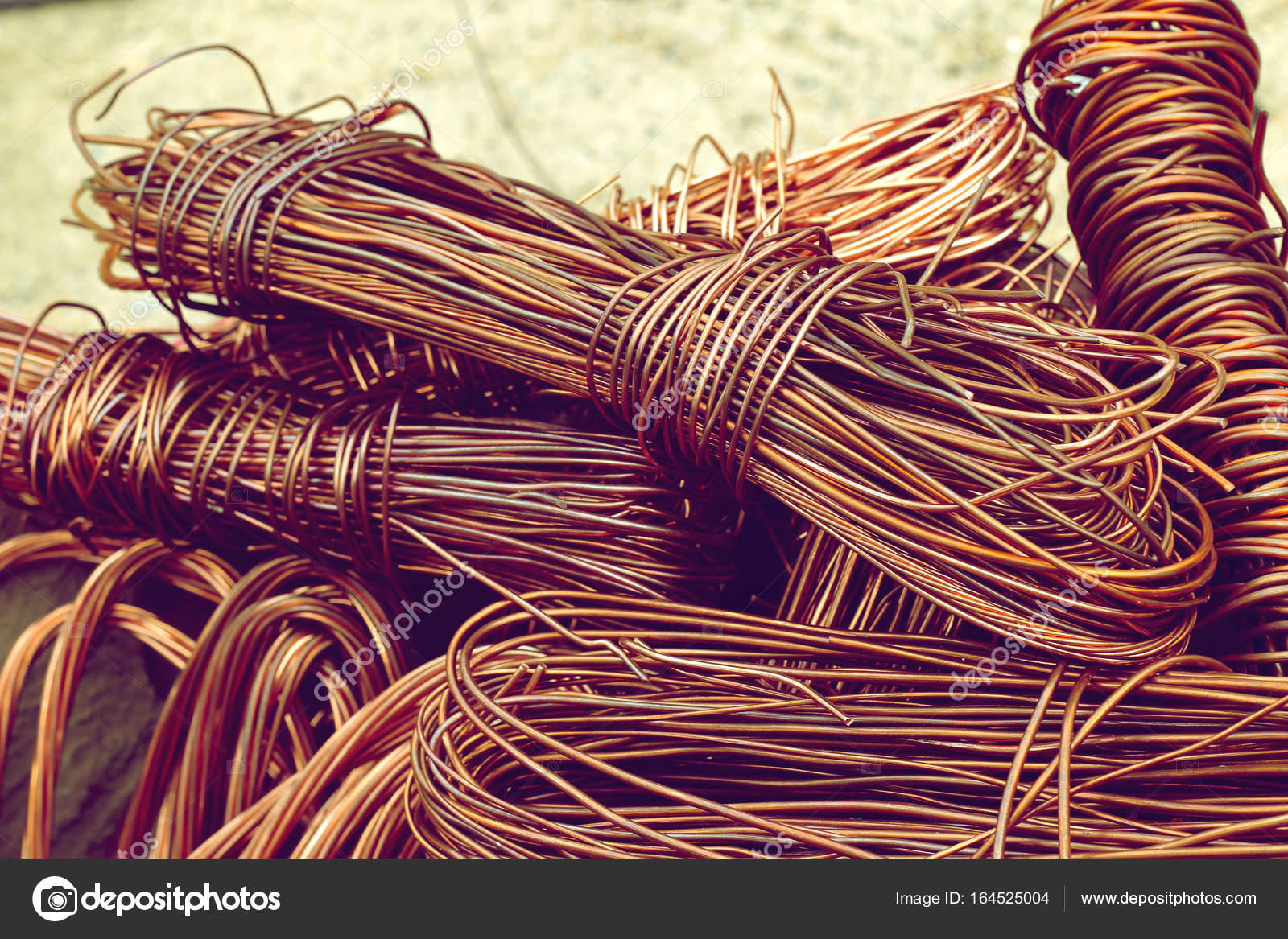 copper wire from factory used for recycling. — Stock Photo ...