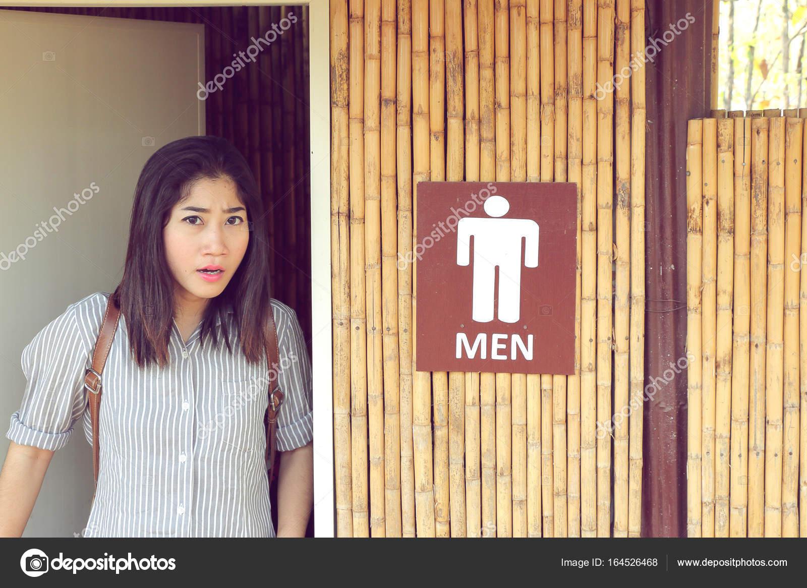Девушка мужской туалет — 14