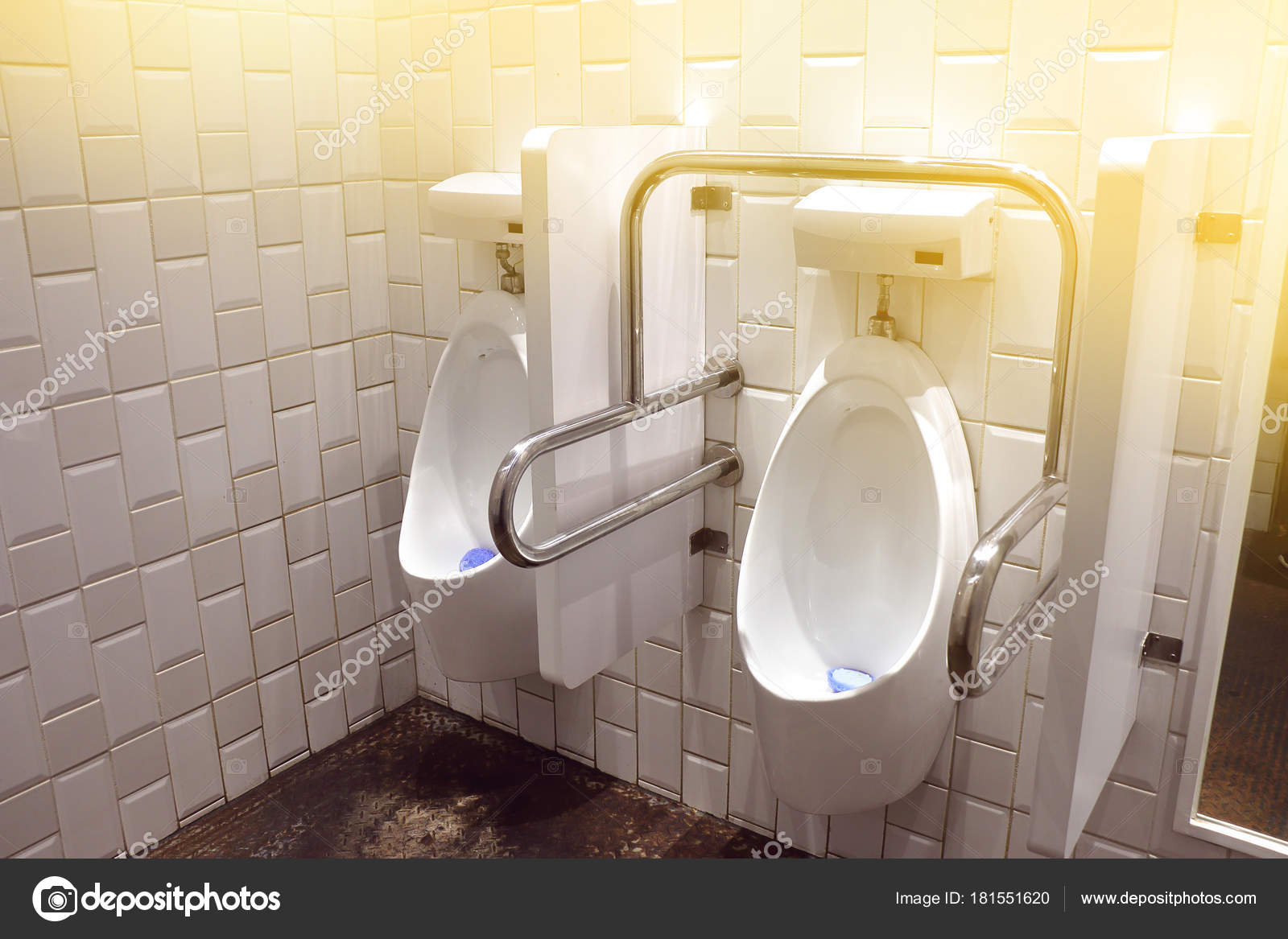 handrail in pub men toilet for people with disability. — Stock Photo ...
