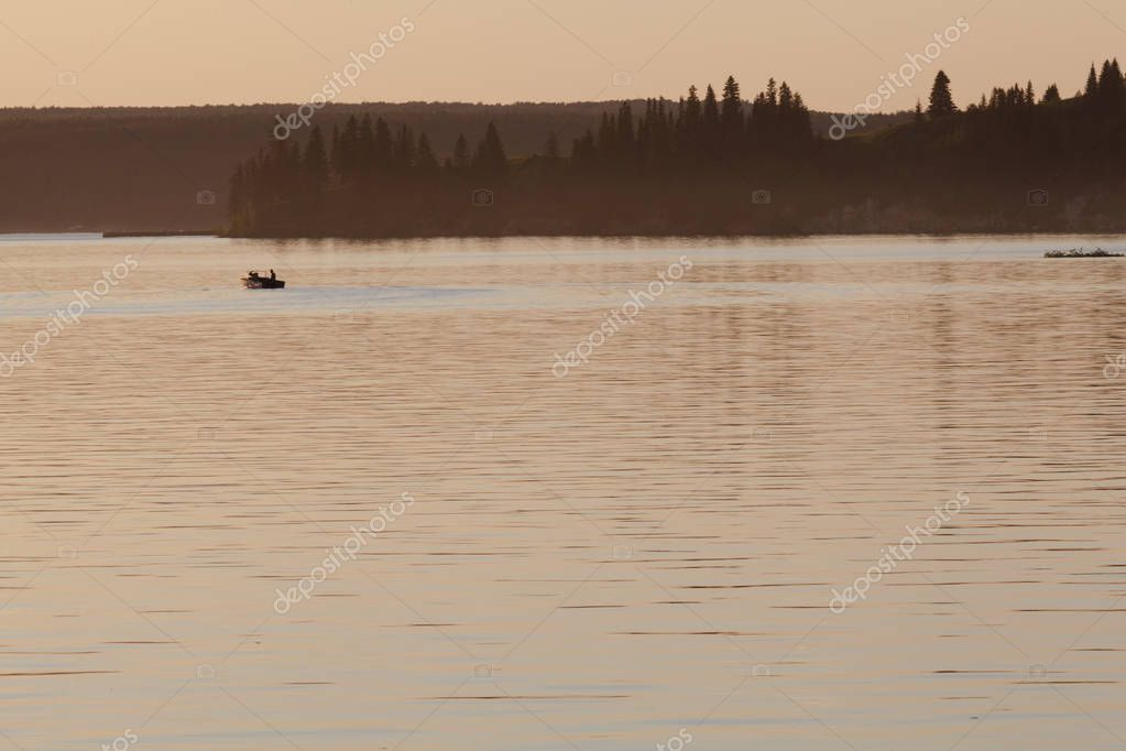 Фотообои night seascape, sea before sunrise and pier stretching to the ho