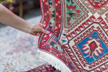 Georgian Caucasian Antique Kilim Rugs stock vector