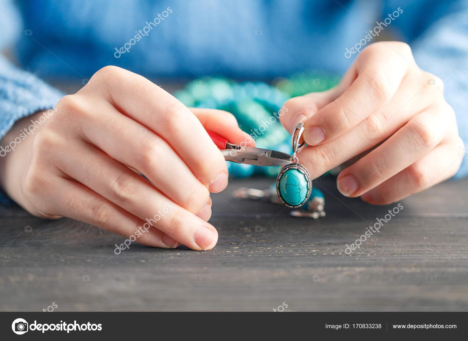 Handmade Earrings Making Home Workshop Woman Artisan Create Tassel