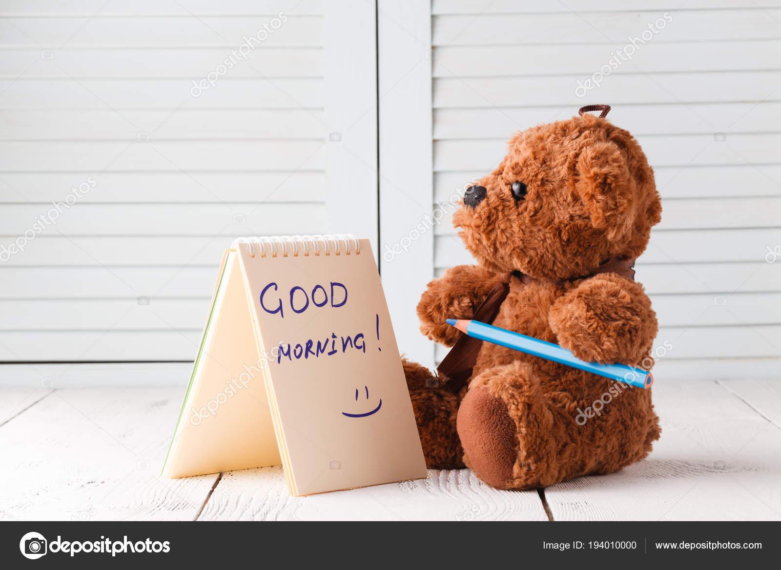 Good Morning With Teddy Bear Stock Photo Andreycherkasov 194010000