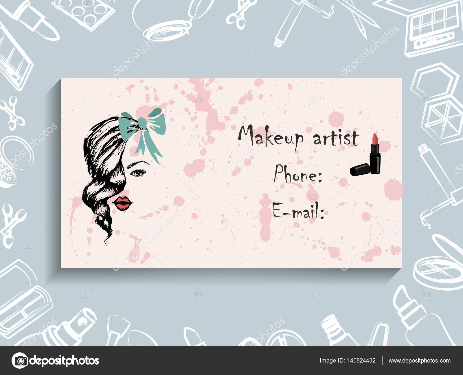 Cosmetic business cards image collections free business cards business cards corporate identity corporate style makeup artist vector illustration business cards corporate identity corporate style magicingreecefo Image collections