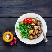 Fotografie Smažené brambory talíř