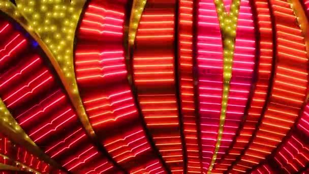 Neonblinklichter im Las Vegas Casino