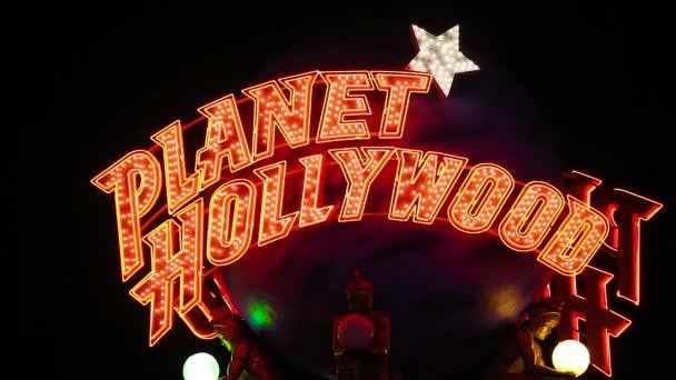 Planet hollywood casino Zeichen in der Nacht close up