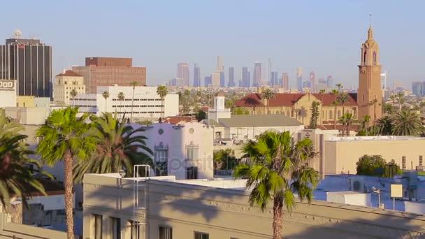 Západ slunce světlo Los Angeles letecký pohled na panoráma