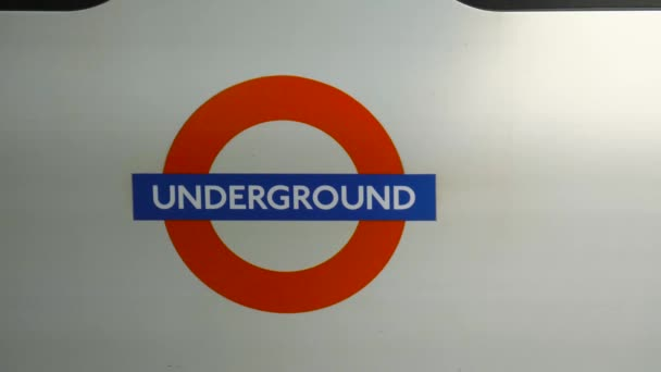 Sign of the London Underground close-up.
