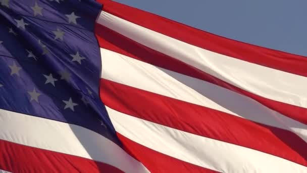 American flag USA, slow motion, close up.