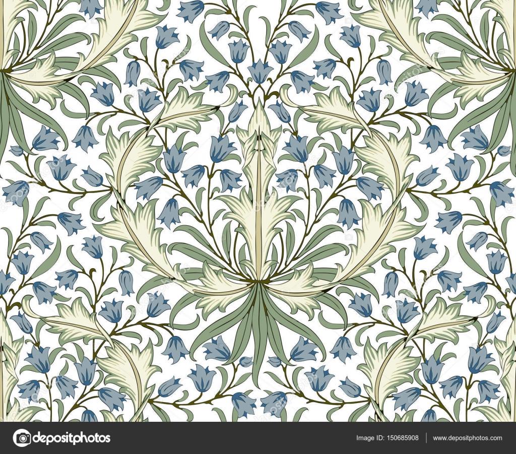 Floral Print Desktop Wallpaper Modern Floral Seamless Pattern