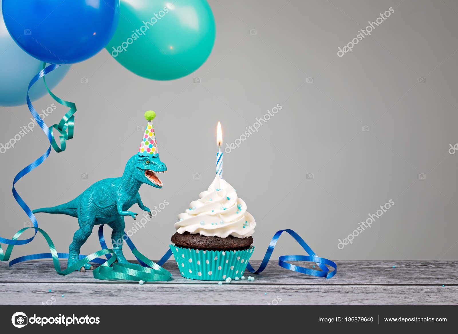Blue Dinosaur Birthday Party Stock Photo juliannafunk 186879640