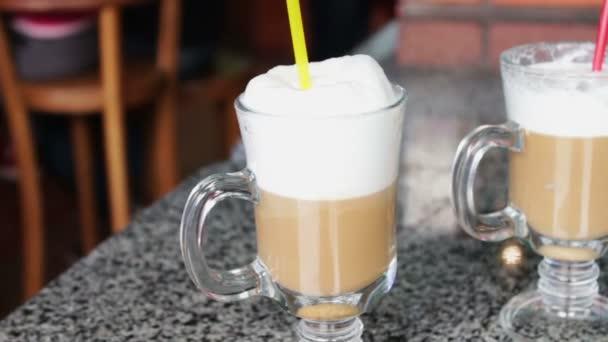 Hot latte with tasty foam